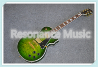 Hot Sale Solid Mahogany Guitar Body Suneye LP Custom Guitar Electric In Green Finish Left Handed Custom Available