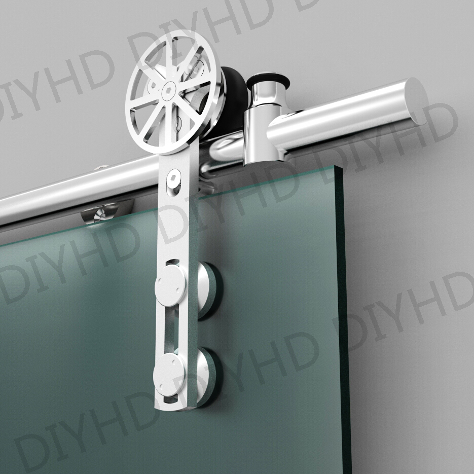 Online buy wholesale tempered glass door hardware from china european style stainless steel sliding barn glass door hardware sliding barn track hardware with movable decoration eventelaan Gallery