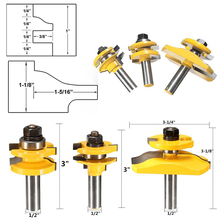 """3pcs 1/2"""" Shank Door Panel Woodworking Cutter Tool Cabinet Router Bits Set For Woodworking Tools"""