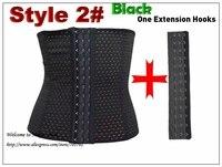 Extension Hooks Waist Training Waist Shaper Black Underbust Corsets Steel Boned Waist Cincher Shaper Belt Plus