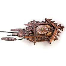 Cuckoo Wall Clock Vintage Art Swing Hanging Handcraft for Home Restaurant Living Room J2Y