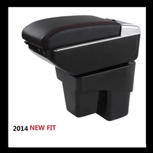 BIGGER SPACE LUXURY Car armrest box central Store content box with cup holder LED suitable for