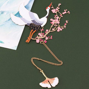 Image 5 - אדום מנוף ופרח מתכת אמנות קלאסי בסגנון סיני מתנת סימנייה אסתטיקה יצירתי מתנת סימניות אריזת מתנה אריזה