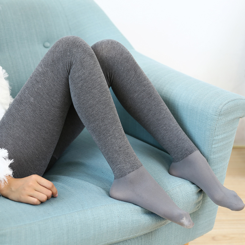2018 New Woman cotton Tights High Elastic Trample Feet Tights High Quality Warm Thick Female Slim Tights Woman Pantyhose