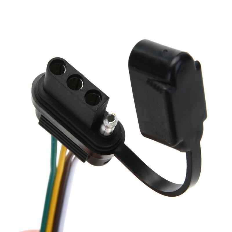 12v 4 pin us trailer hitch wiring cable tow harness power controller  plug american car modified