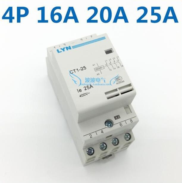CT1-25/4P16A 4NO Household  AC Power Contactor Coil 220/240V