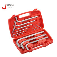 Jetech Durable Chrome Plating Metric Ball Ended Hex Allen Key Wrench Set With Plastic Box For