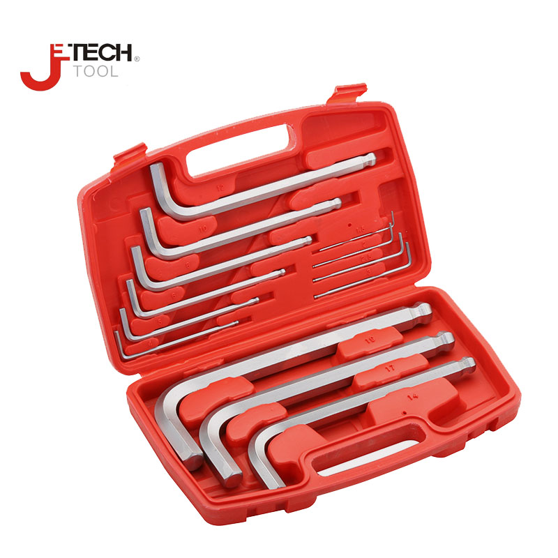 Jetech 13pcs a set of keys wrenches reinforce metric ball ended allen hex key wrench kit with tool box 1.5mm 2mm 2.5mm to 19mm 3 in 1 l shaped carbon steel allen keys wrenches black
