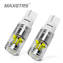 2x T10 194 168 W5W Cree Chip 30W Wedge Base Car Auto LED Reverse Light Backup Light with Projector Lens For Toyota Hyundai
