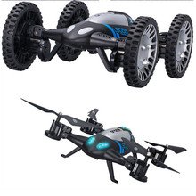High Quqlity L6055 2 IN 1 RC Quadcopter Drone & Car 2.4G 6-Axis UFO With 2MP WIFI Camera Gift For Kids Toys Wholesale