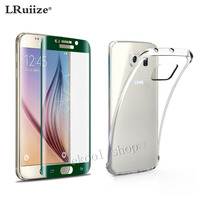 TPU Mobile Case Cover Green Full CURVED 3D TEMPERED GLASS LCD SCREEN PROTECTOR FOR SAMSUNG GALAXY