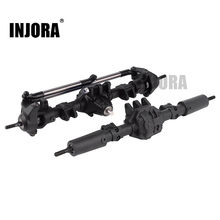 Полный мост переднего и заднего радиоуправляемого автомобиля INJORA для 1:10 RC Crawler Axial SCX10 II 90046 90047 обновленные детали