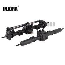 INJORA RC سيارة الجبهة الخلفية مستقيم المحور الكامل ل 1:10 RC الزاحف المحوري SCX10 II 90046 90047 ترقية أجزاء