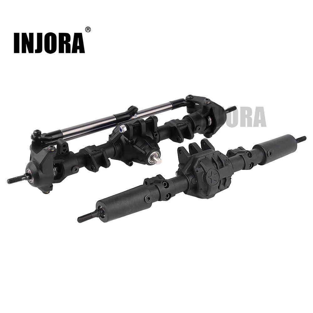 INJORA RC Auto Voor Achter Rechte Compleet As voor 1:10 RC Crawler Axiale SCX10 II 90046 90047 Upgrade Onderdelen