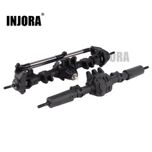 INJORA RC Car Front Rear Straight Complete Axle for 1:10 RC Crawler Axial SCX10 II 90046 90047 Upgrade Parts