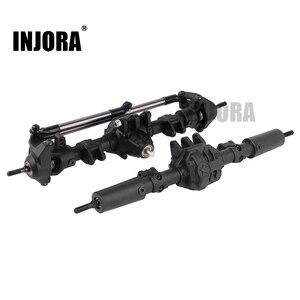 Image 1 - INJORA RC auto anteriore posteriore dritto asse completo per 1:10 RC Crawler Axial SCX10 II 90046 90047 parti di aggiornamento