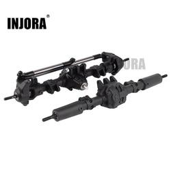 INJORA RC przednia tylna prosta kompletna oś do 1:10 RC samochód terenowy axial SCX10 II 90046 90047 części zamienne