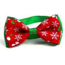 Рождественский праздник для питомца кошки собаки ошейник регулируемый галстук-бабочка шейный ремень кошка собака уход аксессуары товары для домашних животных Рождество
