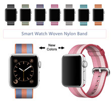 Nueva Llegada de Nylon Correa para Apple Venda de Reloj de la Banda de Nylon Con Adaptador Integrado, para iWatch Nylon Band 42 MM/38 MM