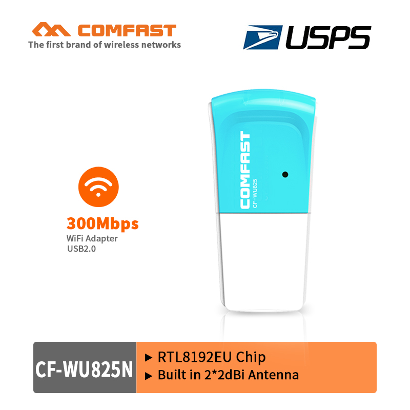 COMFAST 300Mbps USB wireless LAN wifi adapter network card 802.11g/b/n RTL8192EU chipset access point AP WiFi dongle USPS free