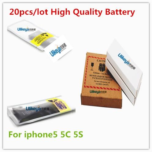 imágenes para 20 unids/lote núcleo original 1440 mah 3.7 v batería para iphone 5 5g genuino 0 ciclo de reemplazo para bmti5g0bta cero