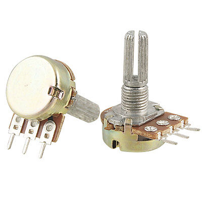 2 x B100K 100K OHM Linear Taper Rotary Potentiometers 1/2W