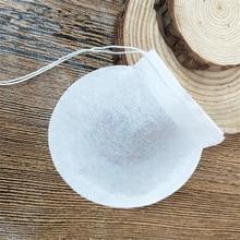 20000 шт./лот Творческий Круглый Форма Чай сумки, одноразовый для продуктов питания фильтр Бумага пакеты, мешки кофе, заполните 1-4 года g мини