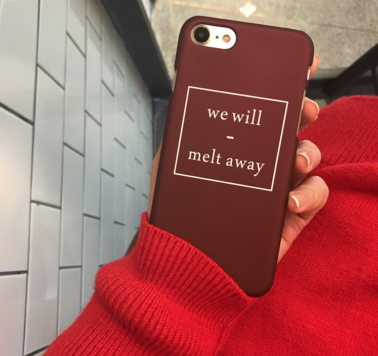 aibor fashion letter we will melt away phone cases for