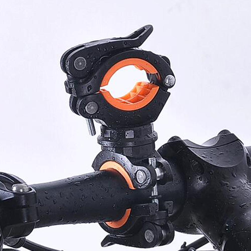 Bicycle Flashlight Clips Universal Plastics Mountain Road Bike Clip Bicycle Bikes Lamp Handle Bar Mount Bracket Holder