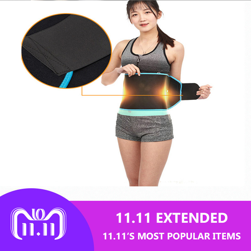 Adjustable Waist Tummy Trimmer Slimming Sweat Belt Fat Burn Shaper Wrap Band Weight Loss Exercise Men Women цена