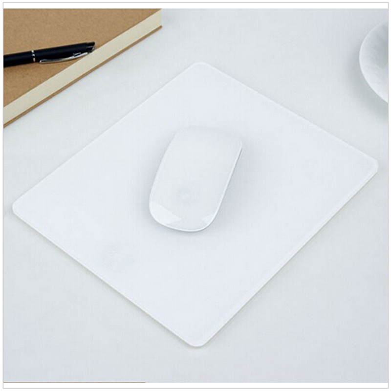 Slide Proof Stylish Acrylic Plexigl Matte Surface Desk Frosted Mouse Pad Mat Design For Le Mackbook Gaming In Pads From Computer