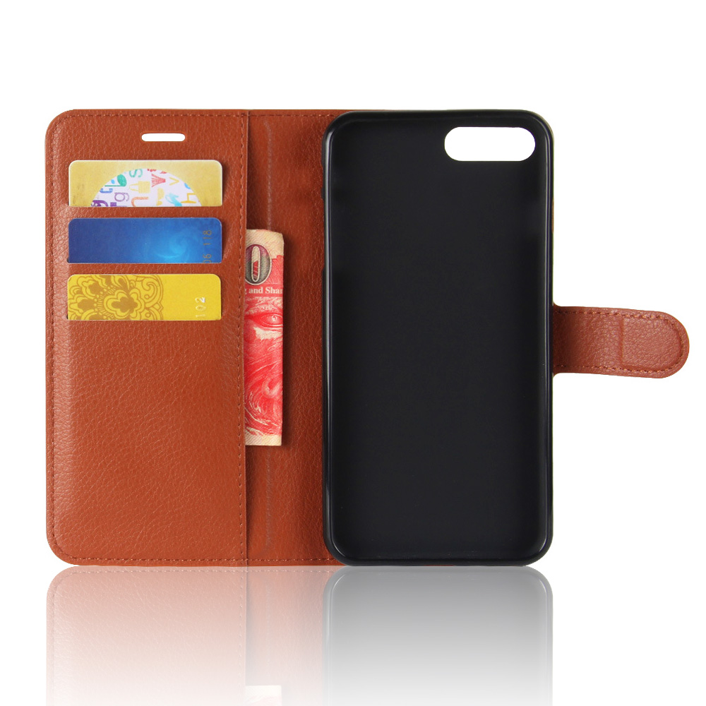 KIP7P1146_5_Litchi Texture Leather Case with Card Slots & Stand for iPhone 7 Plus