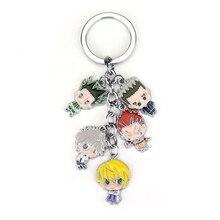 Anime Hunter X Hunter Keychain Gon Killua Zoldyck Kurapika Hisoka Fashion Hot Selling Metal Figures Keyrings for Women Men Gifts