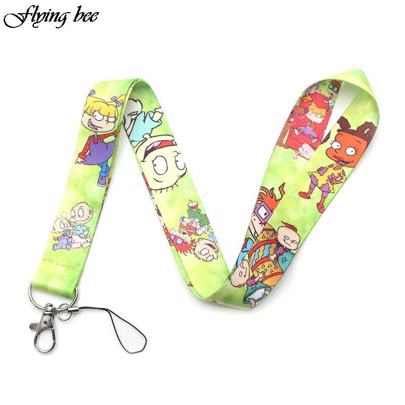 Flyingbee Kawaii kids Keychain Cartoon Cute Phone Lanyard Women Fashion Strap Neck Lanyards for ID Card Phone Keys X0094