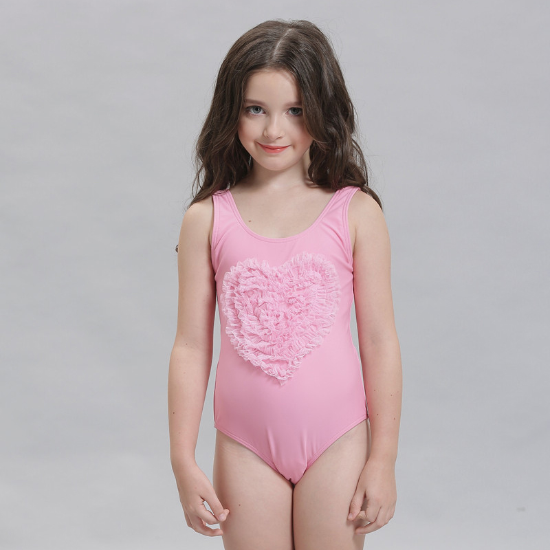 aa6fdf8c62 US $17.59  2016 New Arrival Kids Swimmer Girls Blue and Pink One Piece  Swimwear Cute Kids Swimmers Lovely Child Bathing Suit-in Children's  One-Piece ...