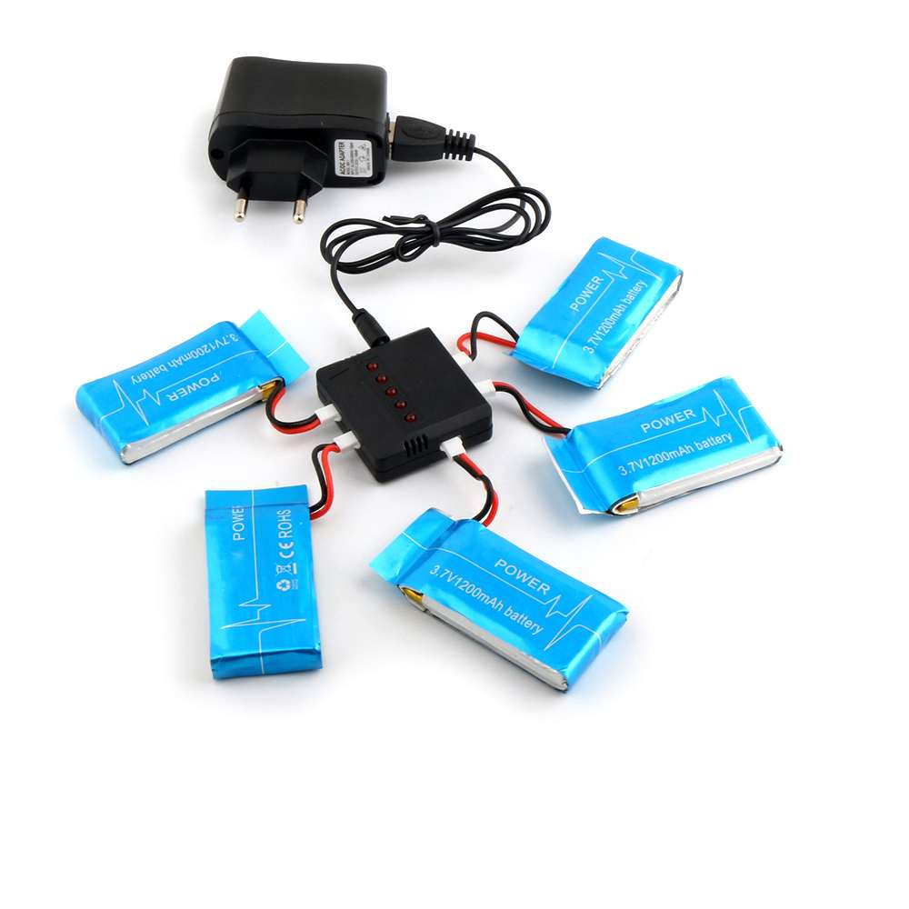цена на Syma X5SW X5SC RC Quadcopter Spare Parts Battery Ultra-high Capacity 3.7V 1200mAh Lipo Battery and 5in1 Cable and ChargerSyma X5