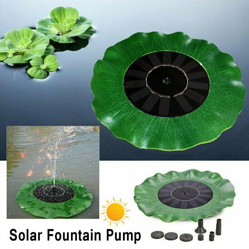 Mini Solar Water Fountain Garden Pool Pond Outdoor Floating Fountain Lotus Form