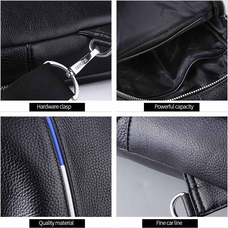 Schulter Leder Reise Taille Sling Brust Männer Mode Casual Taschen Padieoe Pack Echte Bag Messenger vqgwpHx6