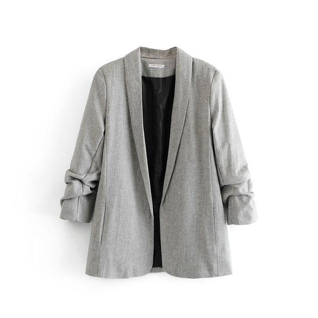 Woman Blazer Grey Korea...