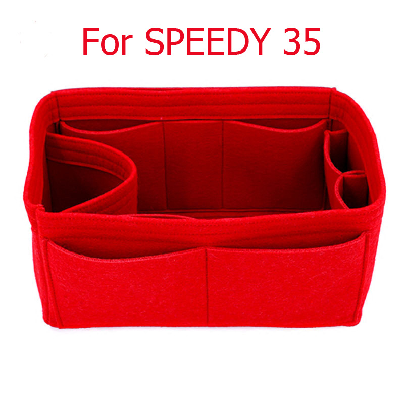 SPEEDY 25 30 35 Felt Cloth Insert Bag Organizer Makeup Handbag Organizer Travel Inner Purse Portable Cosmetic Bags Never Full