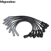 цена на Mgoodoo 8Pcs/lot Ignition Wire Spark Plug Cable Wire Thunder 86045 Thunder Volt LS1 LS2 Fittment For Cadillac