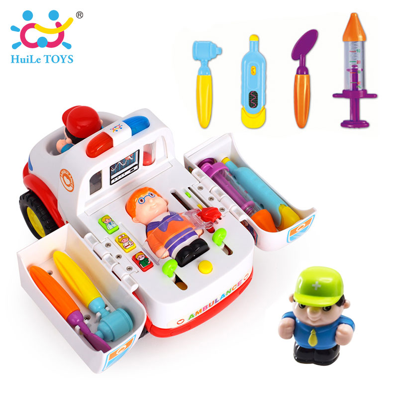 2-in-1-Ambulance-Doctor-Vehicle-Set-Baby-Toys-Pretend-Doctor-Set-and-Medical-Kit-Inside-Bump-and-Go-Toy-Car-with-Lights-Sounds-5