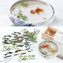 5Pcs 3D Leaves Clear Water Grass Film Sticker For Resin Goldfish Painting Jewelry