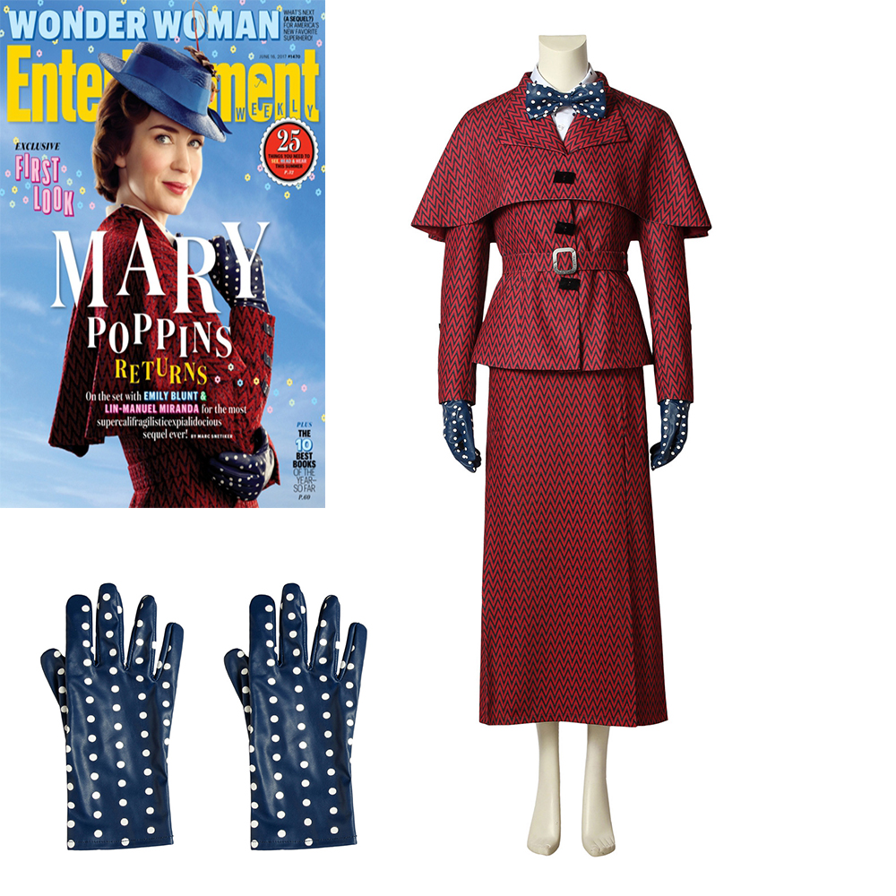 Cosplaydiy Mary Poppins 2 Marry Cosplay Costume Mary Poppins Returns Emily Cosplay Suit Adult Any Size Custom Made L320