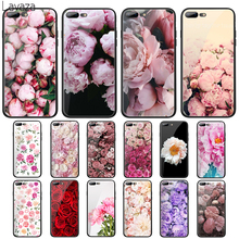 цена на Lavaza Peony Delicate Flower Tempered Glass Case for Apple iPhone 6 6s 7 8 Plus X 5 5S SE XS 11 Pro Max XR Cover