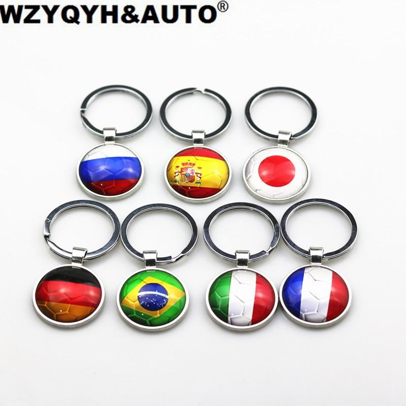 Авто Спорт Металл РОССИЯ Германии, Франции, Италии Флаг Ключи брелок для Lada Ford Volkswagen Mazda Kia Audi Renault BMW