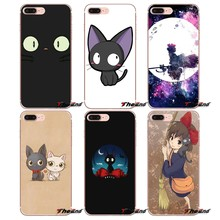 Jiji the cat Transparent Soft Shell Covers For Huawei P Smart Y6 Ascend P8 P9 P10 Plus Nova P20 Lite Pro Mini 2017(China)
