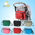 Fashion Pram Baby Carriage Diaper Bag Backpack Nappy Bottle Thermal Bag For Mommy And Baby Stroller Hanging Organizer