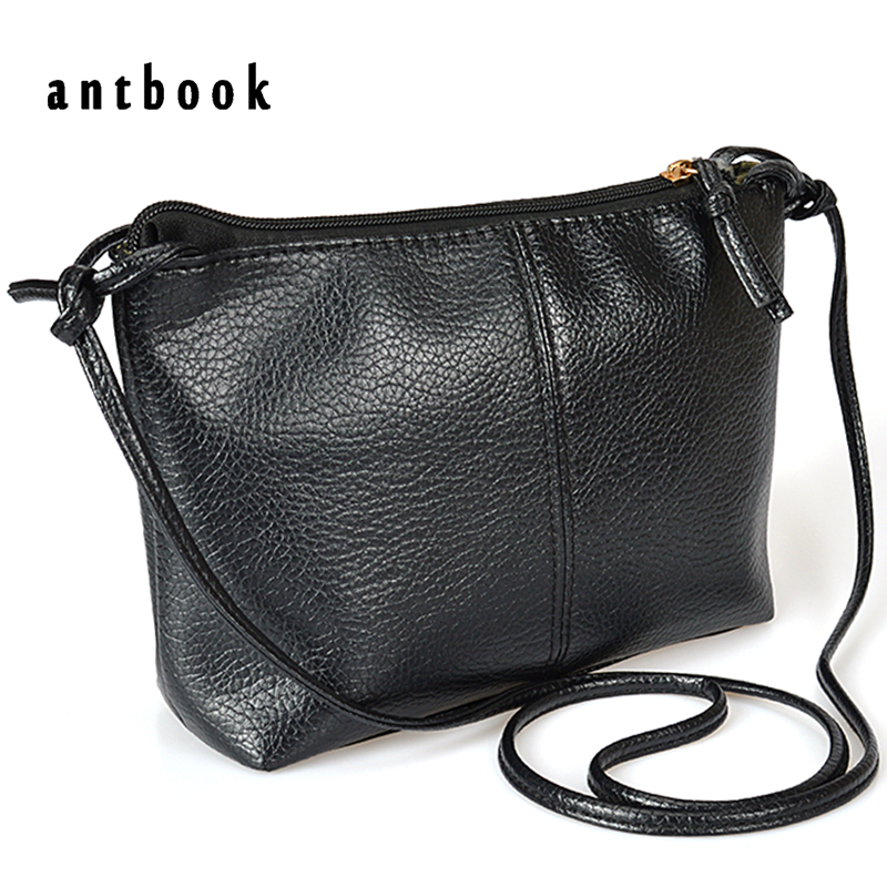 Black Small Shoulder Bag 2017 New High Quality Soft PU Leather Solid Zipper Handbag Women Messenger Bag bolsa feminina  new arrive women leather bag fashion zipper handbag high quality medium solid shoulder bag summer women messenger bag