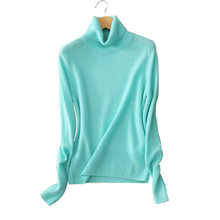 100% cashmere soft pullover sweaters autumn/winter turn-down collar long sleeve knitting pullovers inner outwear sweater